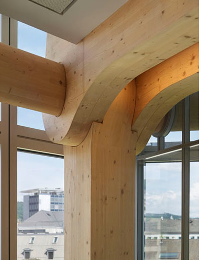 No-nails structural wood – Shigeru Ban's Tamedia office building